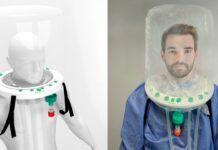 Casco para pacientes críticos