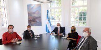 Reunión entre Alberto Fernádez y diputados cordobeses